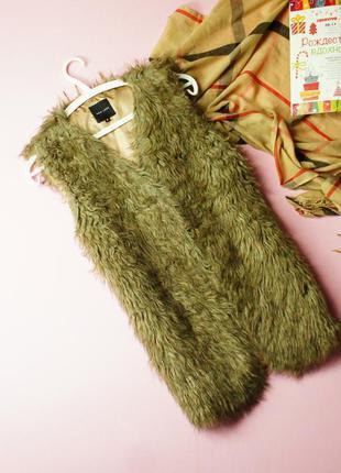S-m new look меховая жилетка под козлика!0368