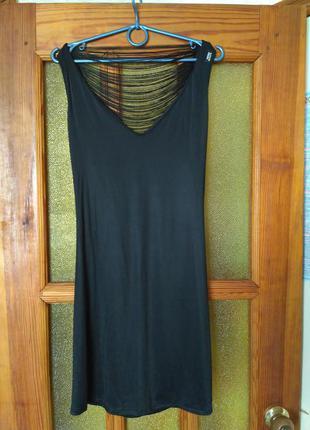 Шикарное черное платье, материала масло
