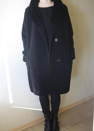 Шерстяное пальто оверсайз c&a`размер м-л