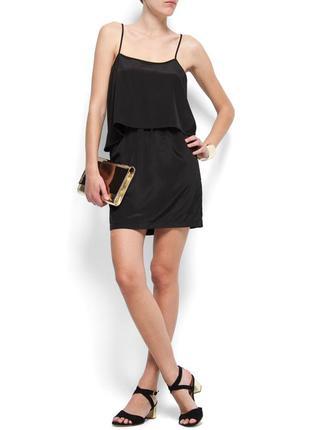Платья сарафан шифоновый маленкое черное платье открытая спина