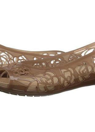 Очаровательные crocs isabella jelly flat оригинал w10
