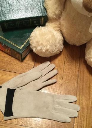 Перчатки замш 6,5