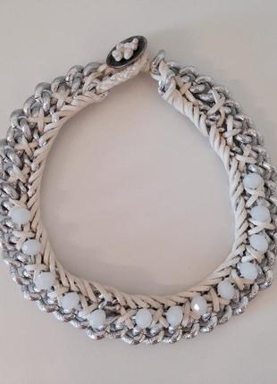 Колье ожерелье плетное h&m