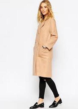 Пудровое пальто asos
