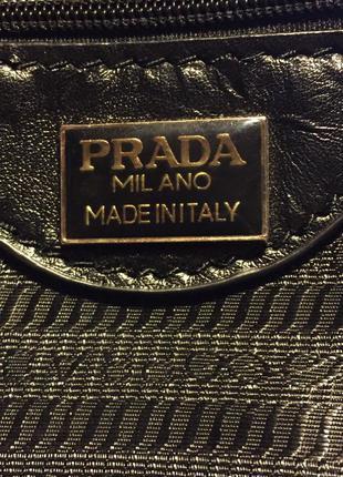 Шикарная сумка, клатч кожа prada италия