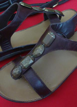 Босоножки clarks brown натур кожа 36-37 размер
