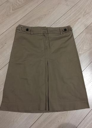 Хлопковая офисная юбка zara