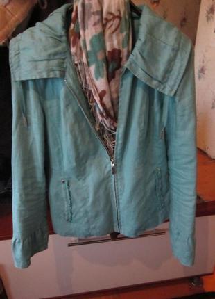 Куртка ветровка лен