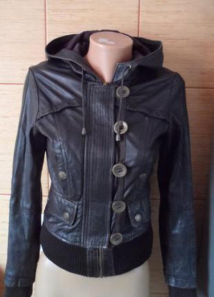Кожаная куртка от river island. размер 8 (  s)