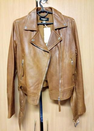 Куртка косуха натуральная кожа stradivarius