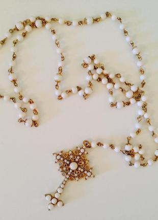 Бусы четки ожерелье под золото розарио asos