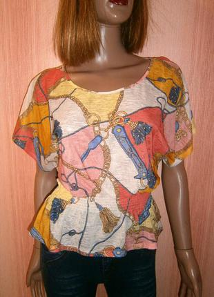 Нежная шифоновая блуза на резинке от atmosphere