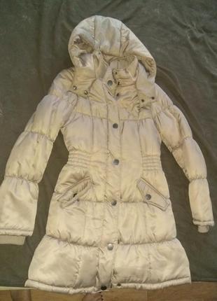 Теплый длинный зимний пуховик, зимнее пальто
