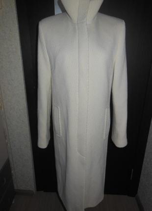 Пальто прямого кроя  весна -осень из шерсти  kookai