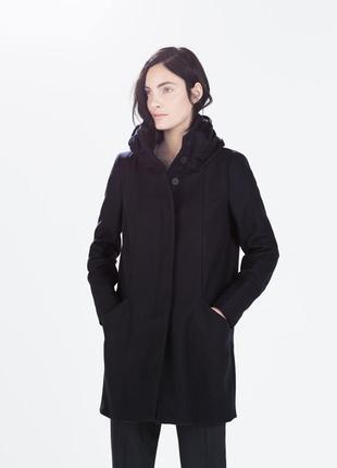 Пальто из шерсти прямого кроя весна, осень