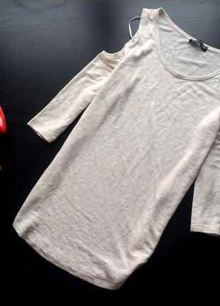 Кофта блуза открытые плечи