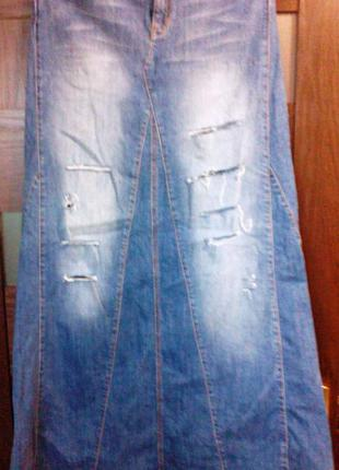 Юбка в пол джинсовая