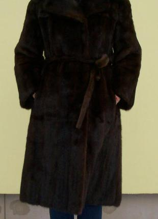 Норковая шуба, натуральная. размер 44-46