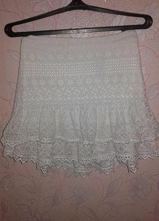 Ажурная юбка h&m