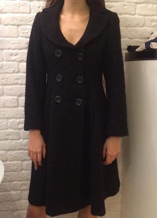 Тёплое шерстяное пальто zara
