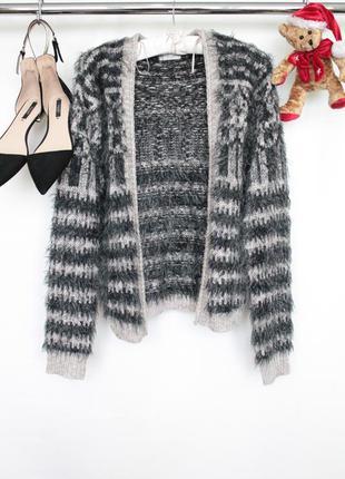 Трендовый вязаний кофта свитер кардиган травка с длинным рукавом