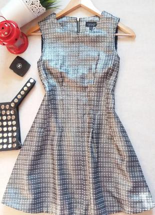 Серебристое платье с напылением серебро