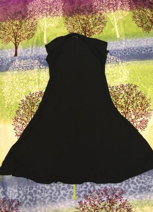 Платье миди хл-ххл черное тянется