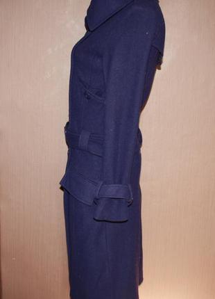 Стильное шерстяное фиолетовое пальто