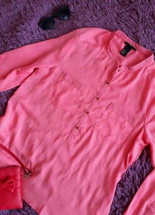 Нежно розовая шифоновая блузка h&m
