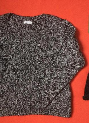 Черно-белая кофта, свитер only