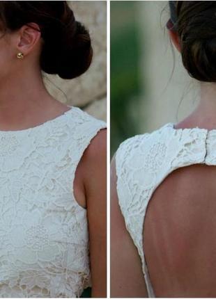 Платья zara белое кружевное