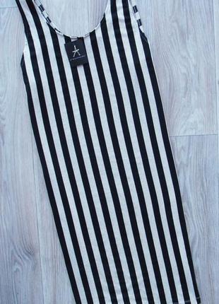 Новое трендовое полосатое трикотажное платье миди atmosphere
