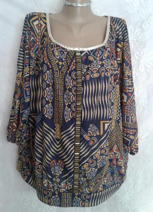 Трикотажная блузочка с распорихой по рукавам, l- хxxl.