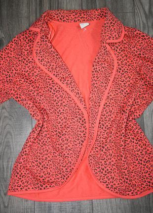 Коралловый пиджак m/l/xl