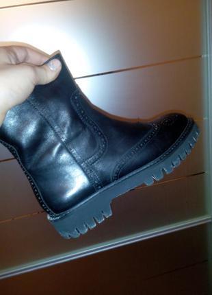 Ботинки сапоги итальянские кожаные зимние basconi зима кожа