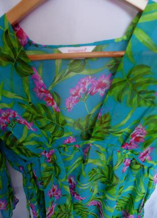 Яскрава пляжна блуза-туніка
