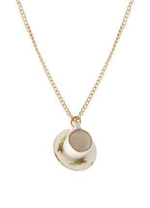 Кулон ожерелн фарфов чашечка asos
