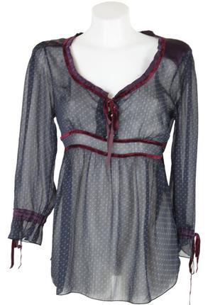 Шифоновая блуза в горохи