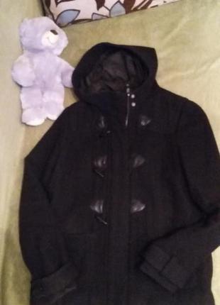 Отличное пальто с капюшоном h&m