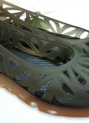 Балетки crocs black adrina iii оригинал w7