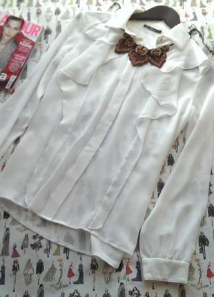 Блуза блузка белая  рубашка
