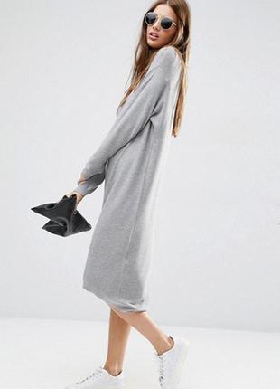 Вязаное платье миди с высокой горловиной asos