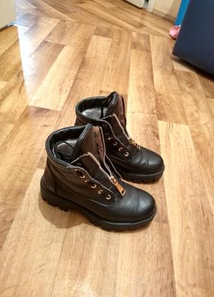 Кожаные ботинки под balmain