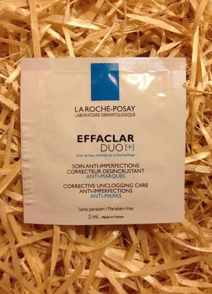 Корректирующее средство комлексного действия для жирной кожи la roche-posay effaclar duo  пробники
