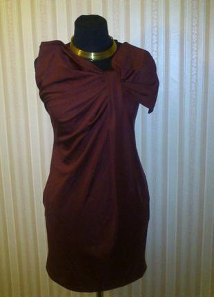 Бордовое платье piena