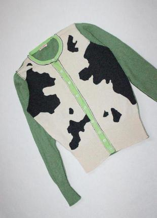 Шерстяной свитер с оригинальным принтом  new scotland