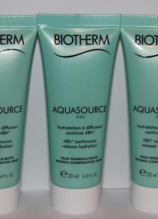 Biotherm интенсивный увлажняющий гель aquasource для нормальной и комбинированной кожи