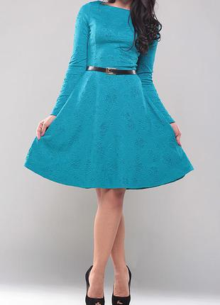 Платье  бирюзового цвета, размер s .