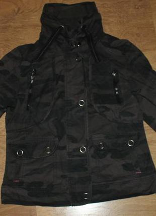 Куртка,ветровка с капюшоном denim,36-38р.