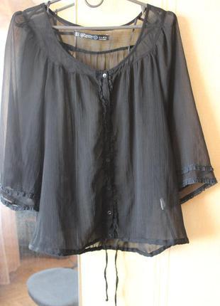Черная Блузка Прозрачная Купить